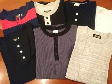 ヘンリーネックTシャツ!