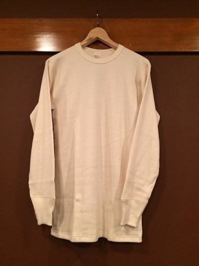 画像1: ウエアハウス 4本針クルーネックワッフル(サーマル)ロングスリーブTシャツ 5903