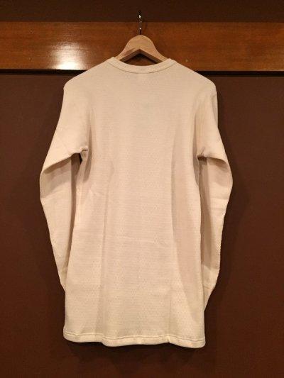 画像2: ウエアハウス 4本針クルーネックワッフル(サーマル)ロングスリーブTシャツ 5903