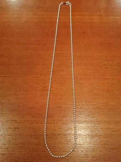 画像1: シルバーボールチェーン2mm 50cm
