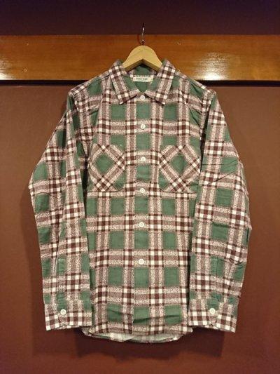 画像1: ウエアハウス(ダブルワークス) プリントフランネルシャツ 62003-B