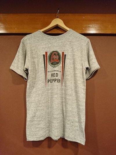 画像1: ウエアハウス×リー コラボレーションTシャツ RED PEPPER