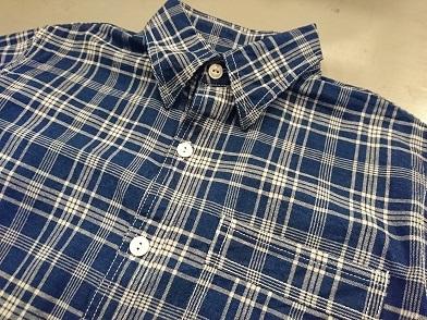 クッシュマンのインディゴチェックシャツ!