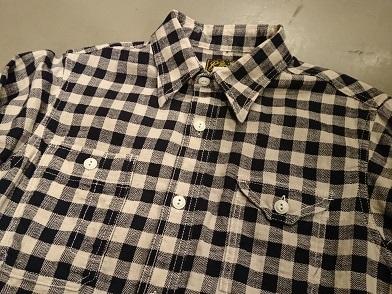 クッシュマンのヘリンボーンチェックワークシャツ!